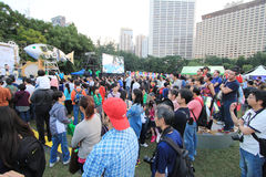 Événement des arts en parc Mardi Gras en Hong Kong 2014 Image libre de droits