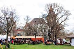Événement en parc de ville à Budapest Photo libre de droits