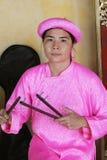 Événement traditionnel de représentation de musique du Vietnam Photos stock