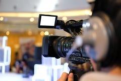 événement vivant de production d'enregistrement visuel d'appareil-photo sur l'étape televisio images stock