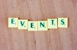 événements Image stock