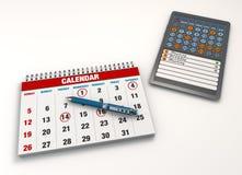 Événements de calendrier Photographie stock libre de droits