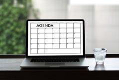 Événements de calendrier de l'information d'activité d'ordre du jour et Appointm de se réunir Photos libres de droits