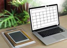Événements de calendrier de l'information d'activité d'ordre du jour et Appointm de se réunir Images stock