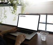 Événements de calendrier de l'information d'activité d'ordre du jour et Appointm de se réunir Image stock