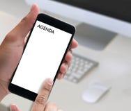 Événements de calendrier de l'information d'activité d'ordre du jour et Appointm de se réunir Photographie stock libre de droits