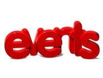 événements de 3D Word sur le fond blanc Photo stock