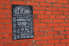 Événements de grand signe de tableau et attractions de vantardise, Cleveland, Ohio, 2016 Photos stock