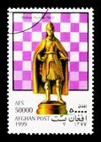 Évêque (Autriche), serie de pièces d'échecs, vers 1999 Photos libres de droits