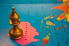 Évêque de jeu d'échecs d'Australie Images libres de droits