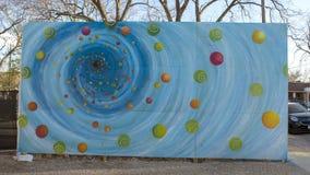 Évêque mural Arts District, Dallas, le Texas de trou noir photo stock