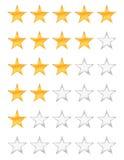 Évaluation d'or d'étoiles illustration stock