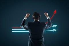 Évaluation et leader de marché photographie stock