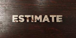 Évaluation - titre en bois sale sur l'érable - image courante gratuite de redevance rendue par 3D illustration stock