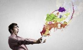 Évaluez l'expression de couleur Photo libre de droits