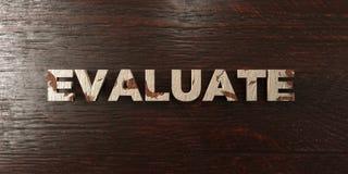 Évaluez - titre en bois sale sur l'érable - l'image courante gratuite de redevance rendue par 3D illustration libre de droits