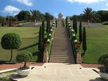 Évasion aux jardins de Bahai Photographie stock