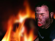 Évasion d'incendie image libre de droits