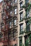 ÉVASION D'INCENDIE NEW YORK Photos stock