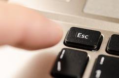 Évasion de ceci, désir de clavier images stock