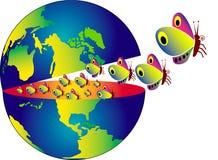 Évasion de la terre illustration libre de droits