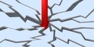 Évasion pointue vers le bas (3d) Photo stock