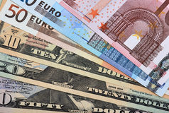 Éventées devises Photo stock