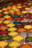 Éventail de bidons de peinture Photographie stock libre de droits