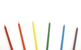 Éventail des crayons de crayon Images stock