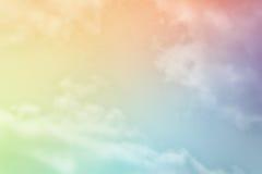 Éventail en pastel des nuages Image stock
