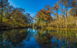 Éventant le bassin de ressorts en automne image libre de droits