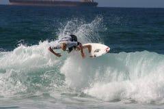 Éventer de Mick - le surfer professionnel du monde des hommes actuels du numéro 1 Image libre de droits