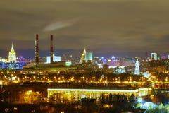 Évident la nuit Moscou image libre de droits