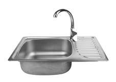 Évier de cuisine avec le robinet photo libre de droits
