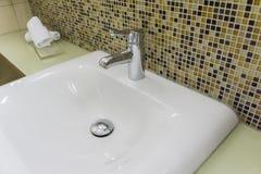 Évier de salle de bains Photo stock