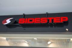Évitez le signe de magasin de chaussures photos stock