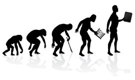 Évolution de l'homme et de technologie Image libre de droits