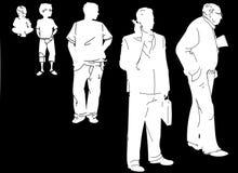 Évolution de la durée d'un homme Image libre de droits