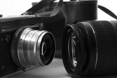 Évolution de la photographie Images stock