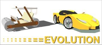 Évolution de la voiture illustration de vecteur