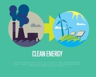 Évolution de pollution industrielle à l'énergie d'eco Illustration Libre de Droits