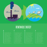Évolution de pollution industrielle à l'énergie d'eco Image stock