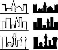 Évolution de ville Photos libres de droits