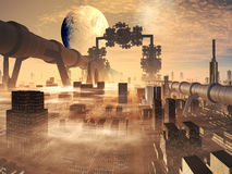 Évolution industrielle illustration stock