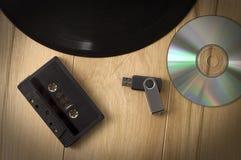 Évolution musicale de dispositifs d'enregistrement images libres de droits