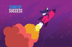Éxito como icono financiero y del negocio de la mudanza hacia arriba libre illustration