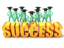 Éxito de la graduación Imágenes de archivo libres de regalías