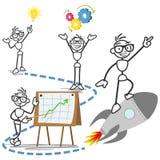 Éxito de la idea del negocio del concepto del hombre del palillo del vector