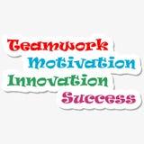 Éxito de la innovación de la motivación del trabajo en equipo Imagenes de archivo