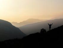 Éxito de la montaña Foto de archivo libre de regalías